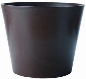 MARC VERDE - pot rond amsterdan ardoise en polyéthylène 40x33,3 - Cache Pot