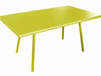 PROLOISIRS - table de jardin menu lemon en aluminium 160x89x73c - Table De Jardin