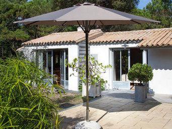 PROLOISIRS - parasol automatique spring 3m toile et mât taupe - Parasol