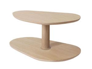 MARCEL BY - table basse rounded en chêne naturel 72x46x35cm - Table Basse Forme Originale