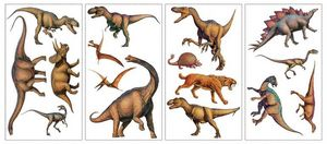 RoomMates - stickers repositionnables dinosaures 16 �l�ments - Sticker D�cor Adh�sif Enfant