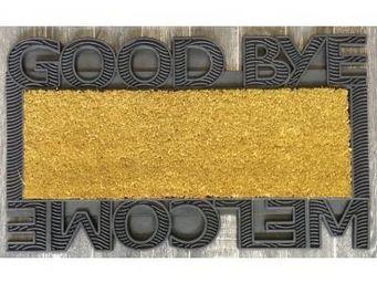 ILIAS - paillasson welcome goodbye - couleur - vert - Paillasson