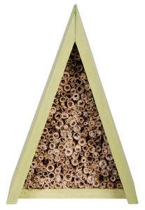 KIDS IN THE GARDEN - maison à abeilles tipi en bois et bambou 14x11x20c - Abri Pour Petits Mammifères