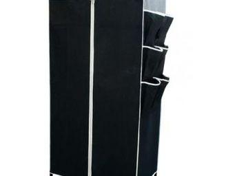 Fomax - armoire tissu noire ou beige - couleur - noir - Rangement Suspendu