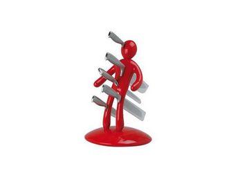 RAFFAELE IANNELLO - porte couteaux voodoo rouge - Bloc Couteaux