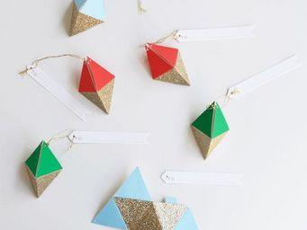 MY LITTLE DAY - 6 gifts tag losanges meri meri - Etiquette Cadeau De Noël