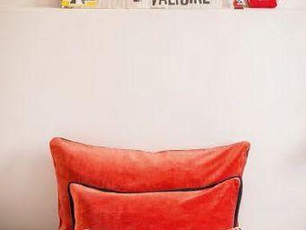 Elitis - rouge mars - Coussin Carr�