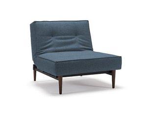 INNOVATION - fauteuil design splitback bleu convertible lit, pi - Fauteuil Bas