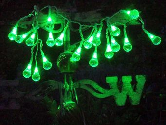 FEERIE SOLAIRE - guirlande solaire boules à facettes 20 leds vertes - Guirlande Lumineuse