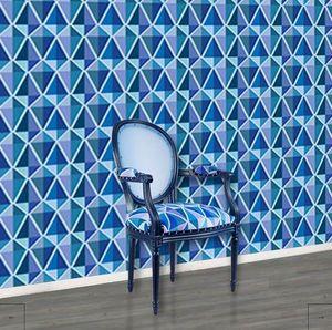 STUDIO EMMA ROUX - lily bleu - Papier Peint