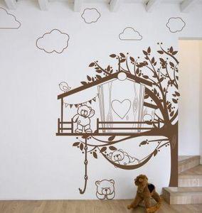 Acte Deco - la cabane aux oursons 2 - Sticker Décor Adhésif Enfant