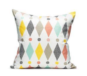 LITTLEPHANT - harlequin white/multi - Coussin Carré