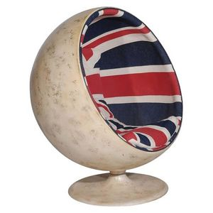 Andrew Martin - fauteuil ball union jack - Fauteuil