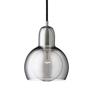 &Tradition - bulb mega - suspension argent/noir ø18cm | suspens - Suspension
