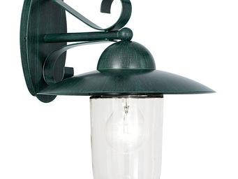 Eglo - milton - applique d'extérieur vert antique h31cm - Applique D'extérieur