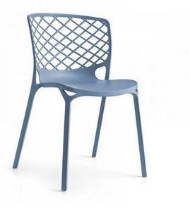 Calligaris - chaise empilable gamera de calligaris bleu ciel - Chaise