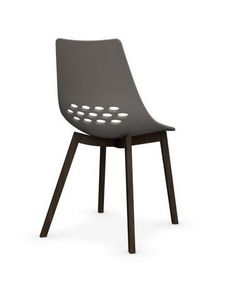 Calligaris - chaise jam w de calligaris grège piétement frêne t - Chaise