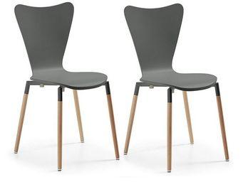MyCreationDesign - conor gris - lot de 2 - Chaise