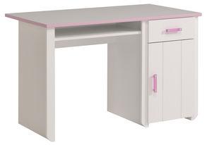 WHITE LABEL - bureau pour fille coloris blanc et rose - Bureau Enfant