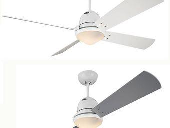 EVT/ Casafan - Ventilatoren Wolfgang Kissling - ventilateur de plafond libeccio, corps blanc, un p - Ventilateur De Plafond