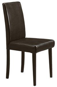 COMFORIUM - lot de 2 chaises simili cuir brun foncé - Chaise