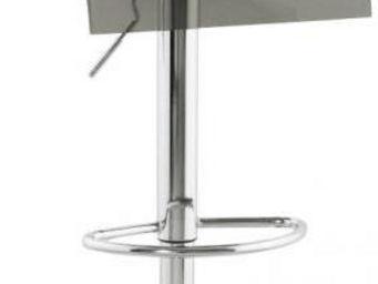 KOKOON DESIGN - tabouret hauteur réglable plexi smoke - Chaise Haute De Bar