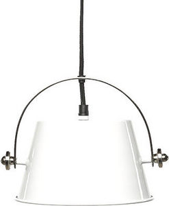 Simla - grande suspension indus en m�tal blanc - Suspension