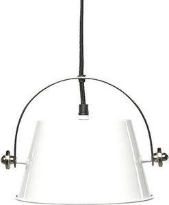 Simla - grande suspension indus en métal blanc - Suspension