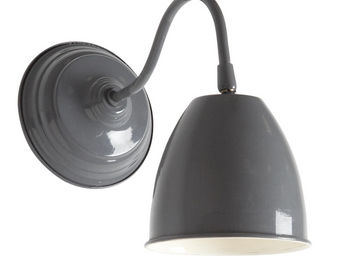 Aubry-Gaspard - applique murale en métal laqué gris foncé - Applique