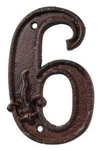 BEST FOR BOOTS - numéro de maison en fonte 6 11,4x7,1x1cm - Numéro De Porte