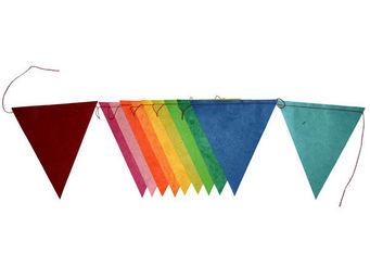 Lamali - guirlande colorée fanion en papier cousu 2m - Guirlande Enfant