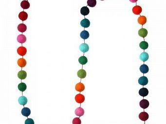 Lamali - guirlande boules feutres couleurs - Guirlande