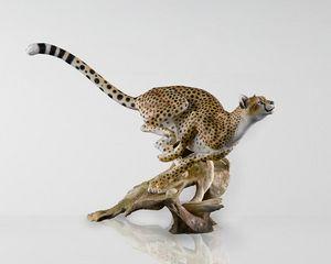 CHAMBERLAIN & CO - panthère - Sculpture Animalière