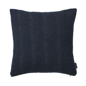 LOUISE ROE COPENHAGEN - 100% baby alpaca cushion herringbone dark blue - Coussin Carré