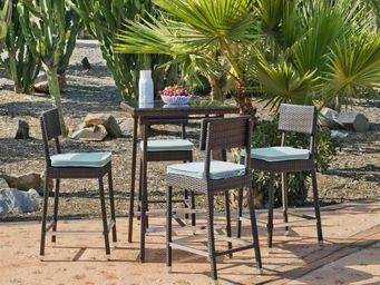 HEVEA - bar de jardin avec tabourets ronda - Salle À Manger De Jardin