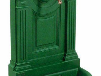 Fontes D'art De Dommartin - fontaine murale de jardin empire vert anglais - Fontaine Murale D'extérieur