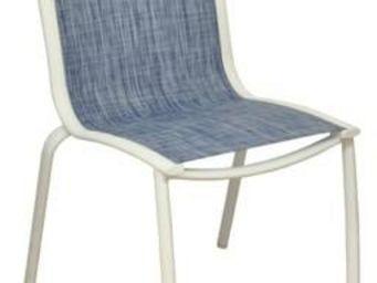 PROLOISIRS - chaise linea en aluminium blanc sand et textilène - Chaise De Jardin
