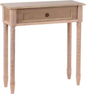 Amadeus - petite console en bois faux tiroir brice naturel - Console