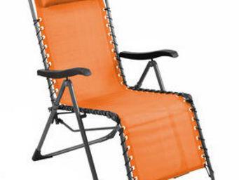 PROLOISIRS - fauteuil de jardin relax néo orange - Fauteuil De Jardin