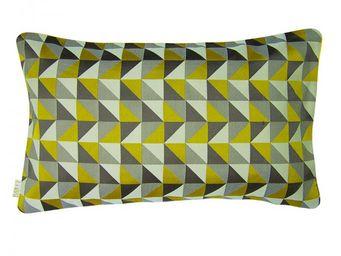 BAILET - coussin déco prisme - 30x50 cm - verso gris perle - Coussin Rectangulaire