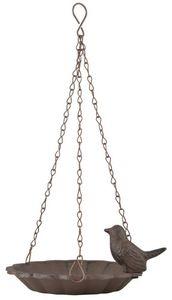 Esschert Design - mangeoire à oiseaux suspendu avec oiseau décoratif - Mangeoire À Oiseaux