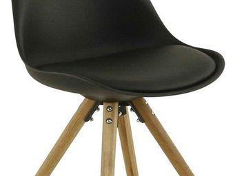 ID'CLIK - chaise design cross (lot de 2) noir - Chaise