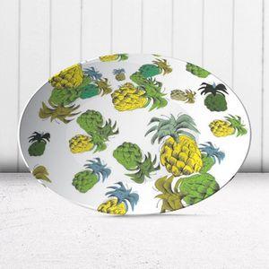 la Magie dans l'Image - assiette ananas motif - Assiette De Présentation