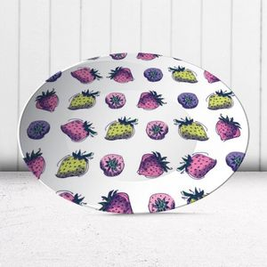 la Magie dans l'Image - assiette fraises motif - Assiette De Présentation