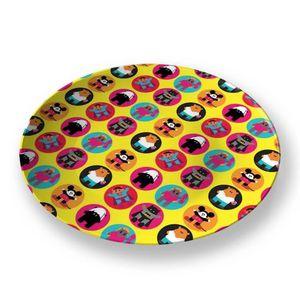 la Magie dans l'Image - assiette héros pattern jaune - Assiette De Présentation