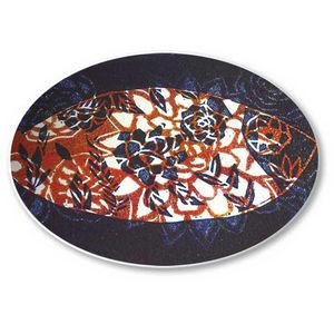 la Magie dans l'Image - assiette poisson batik bleu - Assiette De Présentation