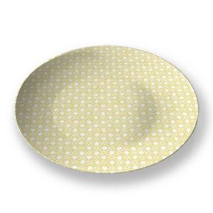 la Magie dans l'Image - assiette trèfle jaune blanc - Assiette De Présentation