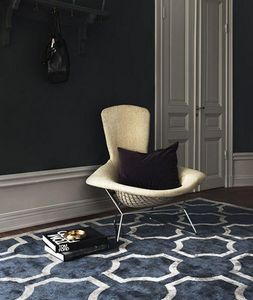 LAYERED - ovals midnight blue - Tapis Contemporain