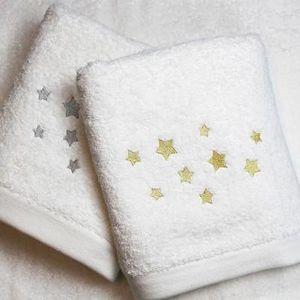 Liou - drap de bain etoiles or & argent - Gant De Toilette