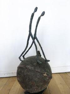 ZEUXIS - les robinsons : le couple - Sculpture